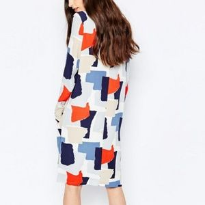 ASOS Selected Femme Color Block Knee-length Dress